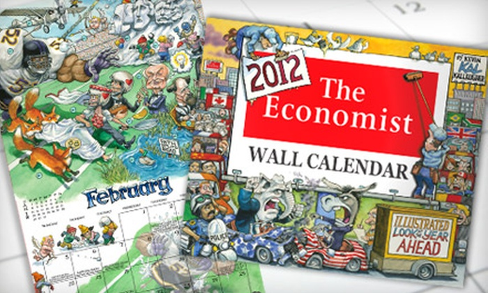 """The Economist"": $12 for an ""Illustrated Look at the Year Ahead"" 2012 Wall Calendar from ""The Economist""  ($20.98 Value)"