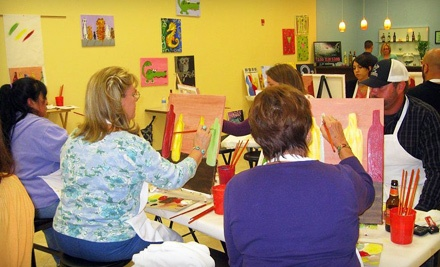 Class for 1 And 1 Glass of Wine - Creative Canvas & Wine in Altamonte Springs
