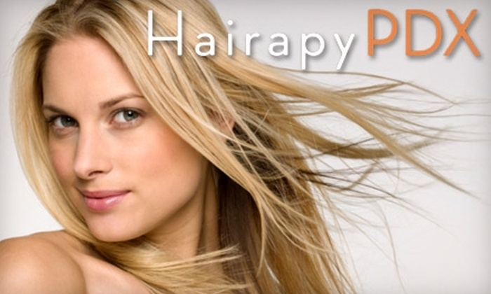 HairapyPDX Salon - Multnomah: $150 for an Organic Smoothing Treatment at HairapyPDX Salon (Up to $350 Value)