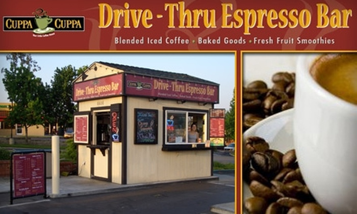 Cuppa Cuppa - Allied Gardens: $5 for Five Large Lattes at Cuppa Cuppa Drive-Thru Espresso Bar