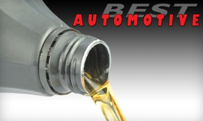 Best Automotive - Duke City Industrial Area: Oil Change from Best Automotive. Choose Either Standard or Synthetic Oil.