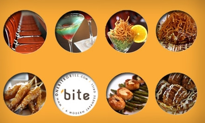 One Bite Japanese Grill - Nottingham By The Green: $30 Worth of Japanese-Style Tapas at One Bite Japanese Grill