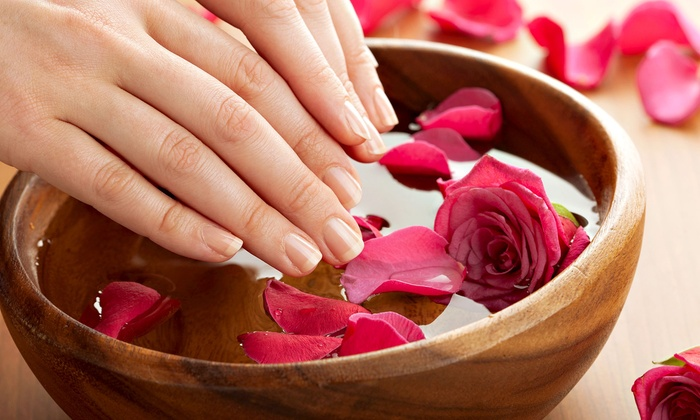 Blissful Nail and Lash Bar - Midtown: Mani-Pedi or a Chocolate and Rose Mani-Pedi at Blissful Nail and Lash Bar (Up to 54% Off)