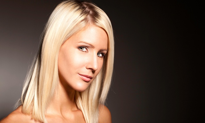 Salon Vaxxe - Winter Park: Haircut and Blow-Dry with Option for a Restorative Hair Treatment or Partial Highlights at Salon Vaxxe (Up to Half Off)