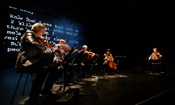 """Laurie Anderson & Kronos Quartet: Landfall - Harris Theater for Music and Dance: Laurie Anderson & Kronos Quartet Present """"Landfall"""" at Harris Theater on March 17 (Up to 50% Off)"""