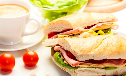 Sandwich with Regular Coffee for One ($8) or Two People ($15) at The Healing Place Cafe (Up to $29 Value)