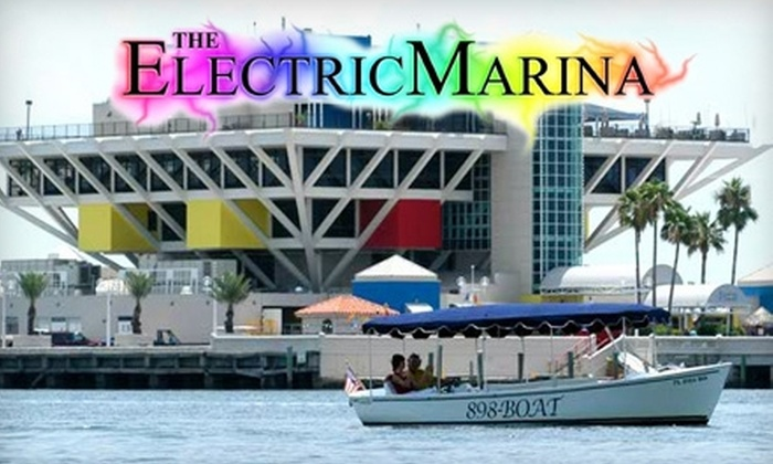 The Electric Marina Boat Rental - St. Petersburg: $37 for a One-Hour Eco-Friendly Electric Boat Rental for Up to 12 People from The Electric Marina Boat Rental in St. Petersburg ($75 Value)