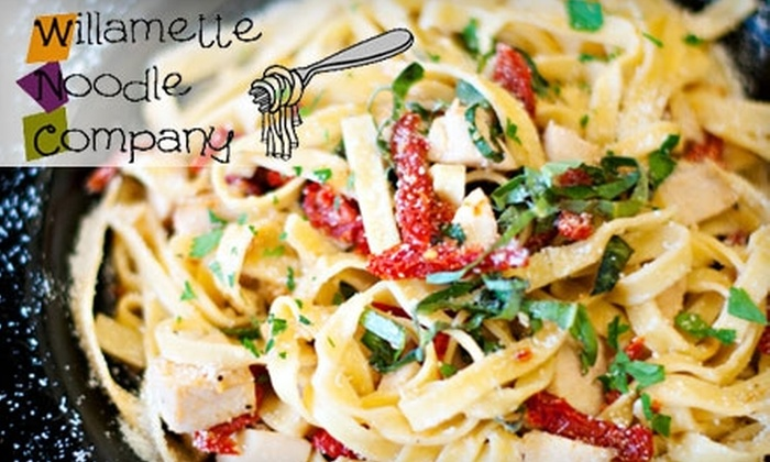 Willamette Noodle Company Too - Central Area: $8 for $16 Worth of Pasta Dishes and Drinks at Willamette Noodle Company Too