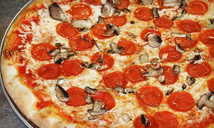 Boardwalk Pizza and Gyros - Clearwater: $14 for a Pizza Dinner for Two at Boardwalk Pizza and Gyros in Clearwater ($28.70 Value)