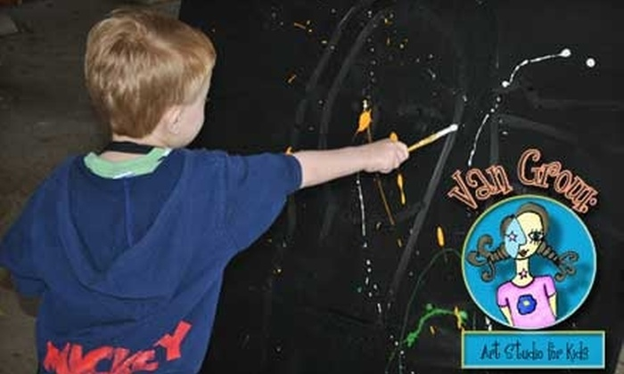 Van Grow: Art Studio for Kids - Monticello: $20 for Two-Hour Class at Van Grow: Art Studio for Kids ($45 Value). Three Age Groups Available.