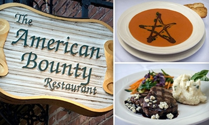 The American Bounty Restaurant and Wine Bar - Washington: $12 for $25 Worth of Fine Dining and Drinks at The American Bounty Restaurant and Wine Bar