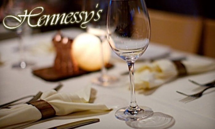 Hennessy's Restaurant and Lounge - Downtown: $20 for $40 Worth of Dinner (or $7 for $15 Worth of Lunch) at Hennessy's Restaurant & Lounge