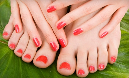 Classic Manicure and Spa Pedicure (a $75 value) - New Creations Salon in Tuscaloosa