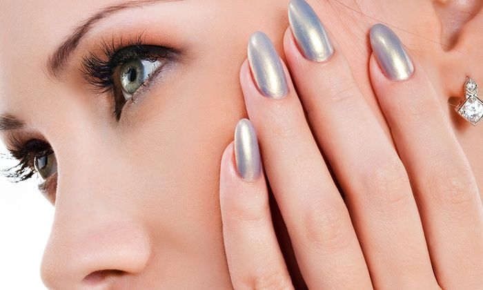 Anna Rianou Salon & Spa - Glenwood: Basic Eyelash Extensions with an Optional Manicure and Blowout with Shampoo at Anna Rianou Salon & Spa (Up to 56% Off)