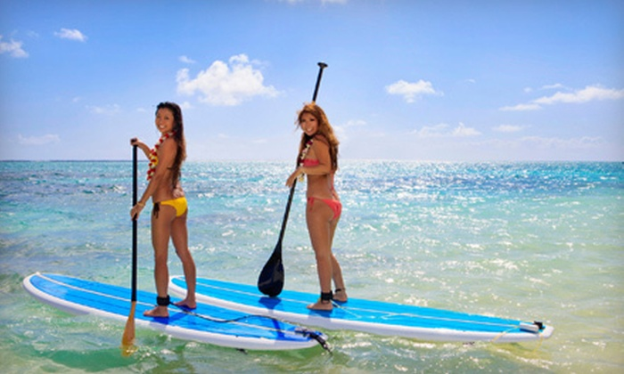Miami Kiteboarding Lessons - Bayshore: One- or Two-Hour Paddleboard Rental from Miami Kiteboarding Lessons in Miami Beach (Up to 62% Off)