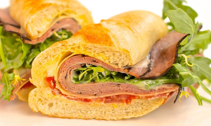 White Apron Specialty Sandwiches - Downtown - Penn Quarter - Chinatown: Sandwich Meal for Two with Chips and Soft Drinks at White Apron Specialty Sandwiches (Up to 58% Off)