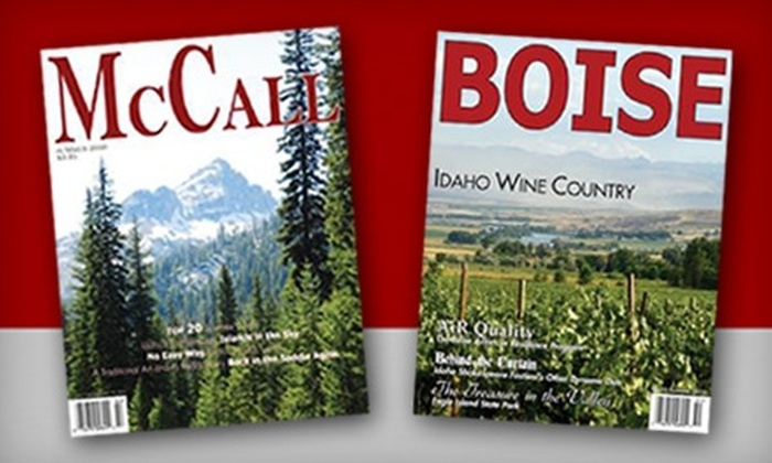 "Lake Fork Publishing - McCall: Annual Subscription to ""Boise"" Magazine from Lake Fork Publishing. Three Options Available."