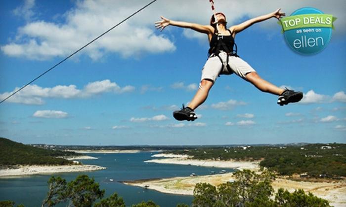 Lake Travis Zipline Adventures - Arrowhead Point: $50 for a Zipline Adventure from Lake Travis Zipline Adventures in Volente ($89 Value)