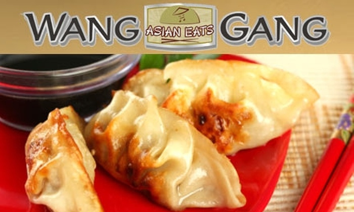 Wang Gang - Multiple Locations: $5 for $15 Worth of Asian Cuisine and Drinks at Wang Gang