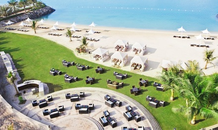 Beach Access with Choice of Beverages for Up to Four at Afyä   Traders Hotel (Up to 70% Off)