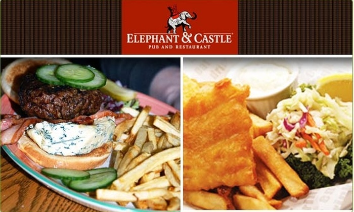 Elephant & Castle - Downtown: $15 for $35 Groupon to Elephant & Castle