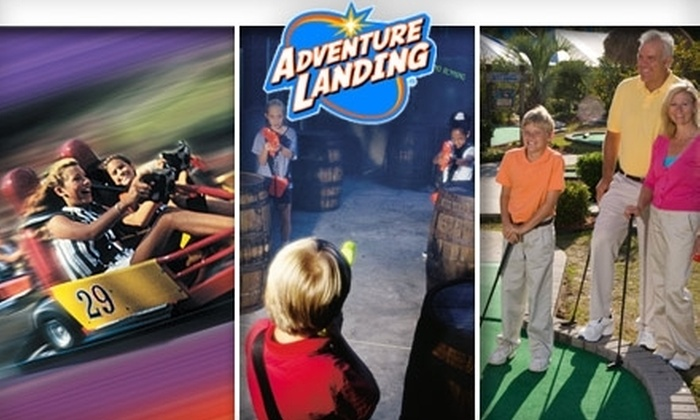 Adventure Landing - Multiple Locations: $14 for a Five-Attraction Pass at Adventure Landing (Up to $31.49 Value)