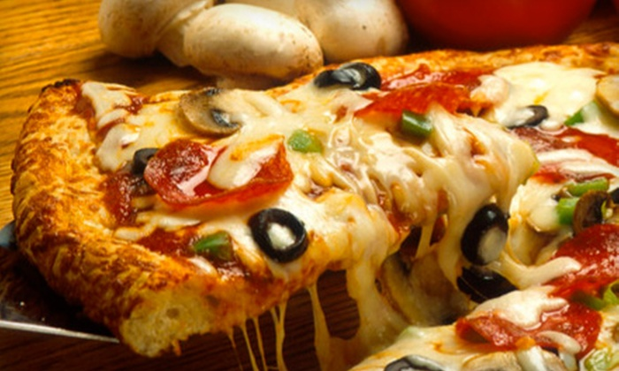 JoJo's Pizza Kitchen - Multiple Locations: $22 for a Pizza Dinner with Beer, Wine, or Soda for Four at JoJo's Pizza Kitchen (Up to $45.30 Value)
