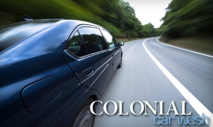 Colonial Car Wash - Multiple Locations: Car Washes at Colonial Car Wash. Choose Between Two Options.