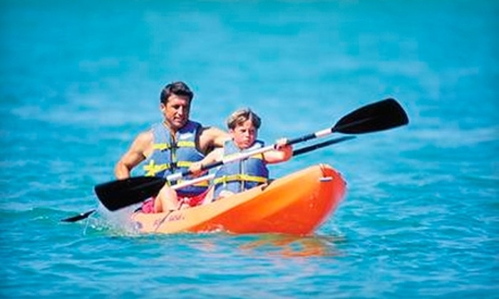 Adventure Water Sports, Inc. - Fort Myers Beach: $39 for a Full-Day Kayak or Stand-Up Paddleboard Rental, Plus an Umbrella and Two Chairs, at Adventure Water Sports, Inc. ($88.44 Value)