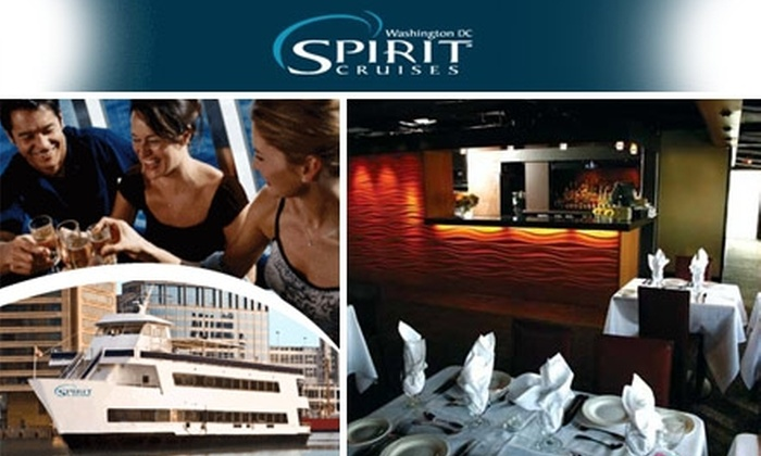 Entertainment Cruises - Washington DC: $75 for a Ticket to a Dinner Cruise with Spirit Cruises ($124 Value). Buy Here for Saturday, December 5. Other Prices and Dates Below.