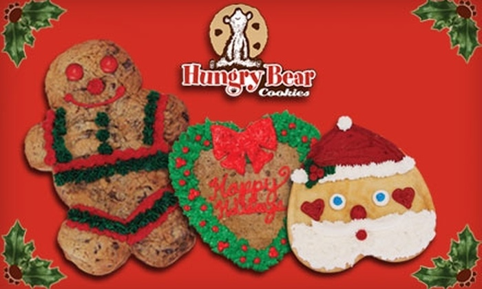 Hungry Bear Cookies - Multiple Locations: Holiday Cookies at Hungry Bear Cookies (Up to $18.99 Value). Choose Between Two Options