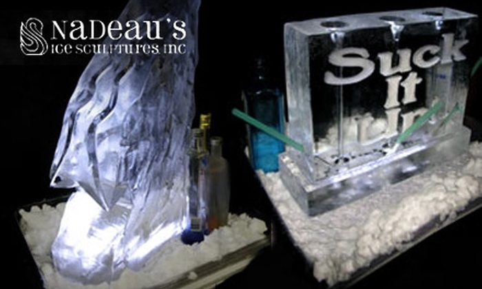 Nadeau's Ice Sculptures - Forest Park: $49 for a Drink Ice Luge at Nadeau's Ice Sculptures in Forest Park ($99 Value)