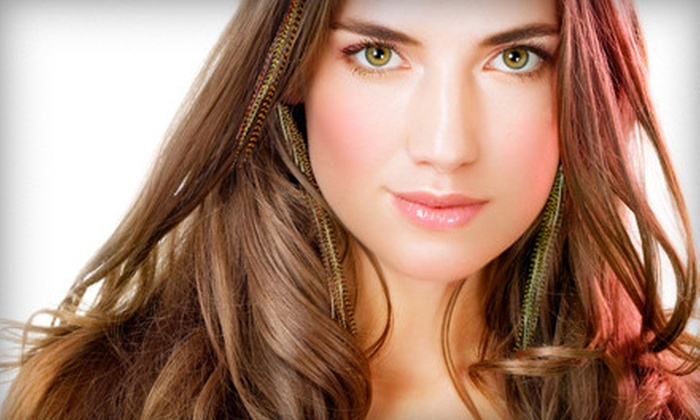 Min Lin Salon - Saddlewood: Haircut Package with Partial or Full Highlights or Feather Extensions at Min Lin Salon in Glen Ellyn (Up to 68% Off)