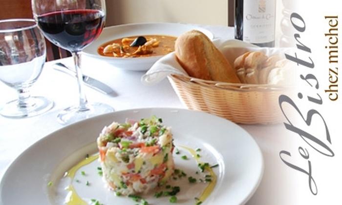 Le Bistro Chez Michel - North Vancouver: $20 for $40 Worth of French Cuisine & Drink at Le Bistro Chez Michel