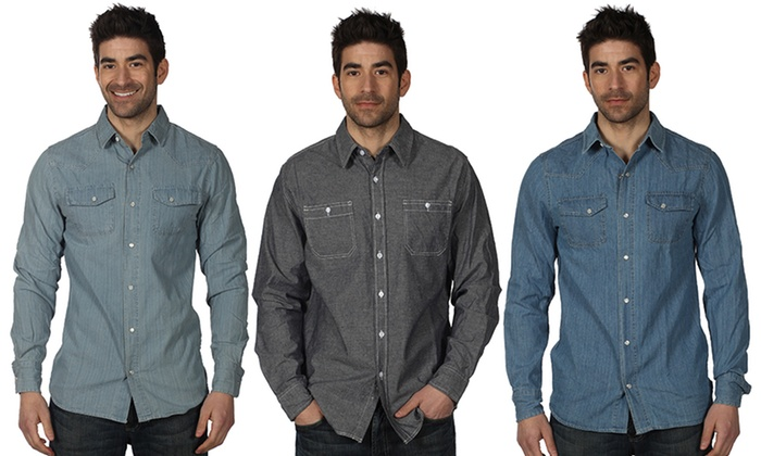 Red Snap Men's Denim Shirts | Groupon Goods