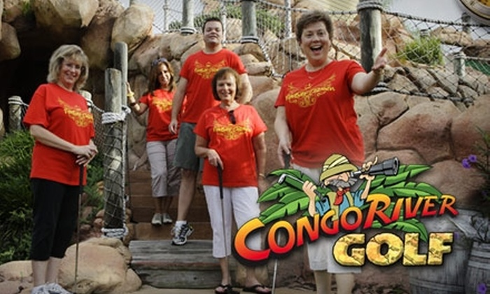 Congo River Golf - Multiple Locations: $16 for Two One-Day Unlimited Miniature Golf Passes at Congo River Golf (Up to $32.08 Value)