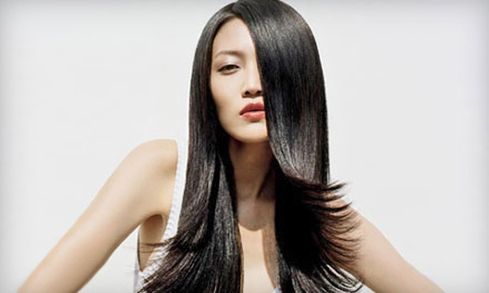 Eden, An Aveda Lifestyle Salon and Spa - Multiple Locations: Haircut and Gloss or Haircut and Gloss Plus Partial or Full Highlights at Eden, An Aveda Lifestyle Salon and Spa