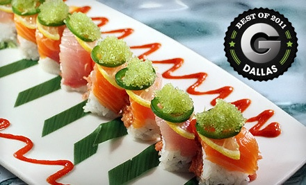 $50 Groupon to Naan Sushi Japanese Restaurant - Naan Sushi Japanese Restaurant in Dallas