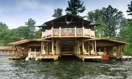 groupon daily deal - 2-Night Stay for Two with Two Drink Vouchers at Stout's Island Lodge in Birchwood, WI. Combine Up to 8 Nights.