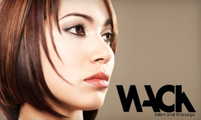 Wack Salon and Massage - Buckman: $55 for a Haircut Plus a Full Color or Partial Highlight at Wack Salon and Massage