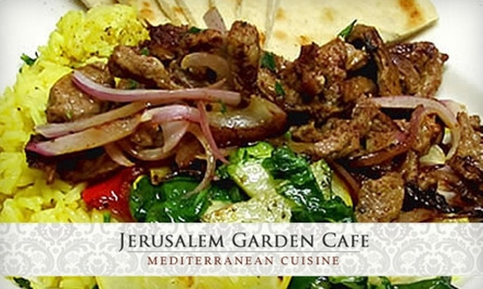 Jerusalem Garden Cafe - Downtown Ashville: $10 for $20 Worth of Mediterranean Dinner Fare at Jerusalem Garden Cafe (Or $5 for $10 Worth of Lunch)