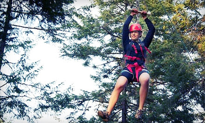Adventure Dynamics - Nine Mile Falls: $29 for a Three-Hour High-Ropes Adventure with a Zipline and Obstacle Course at Adventure Dynamics ($59.95 Value)