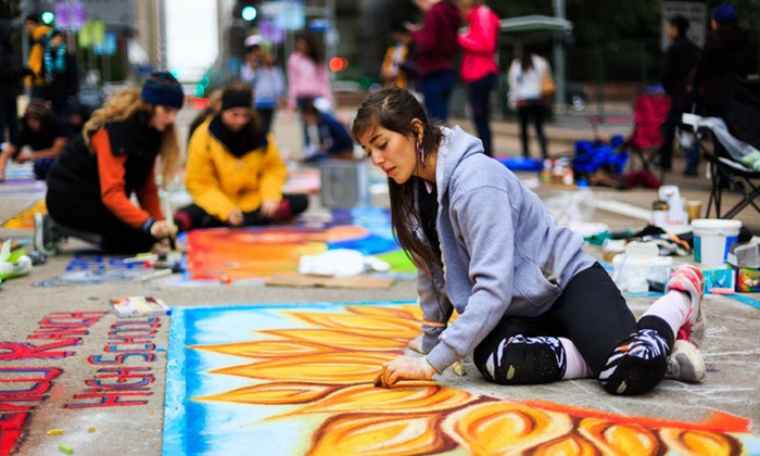 Via Colori Festival - Hermann Square, City Hall: Scavenger Hunt for Up to Four or Up to Six, or Lounge with Mini Events for One or Two from Via Colori Festival