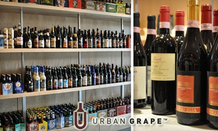 The Urban Grape - Chestnut Hill: $15 for $35 Worth of Fine Wine and Craft Beer at The Urban Grape
