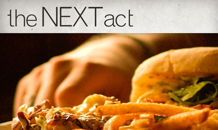 The Next Act - Strathcona: $15 for $30 Worth Of Quality Pub Fare and Drinks at The Next Act