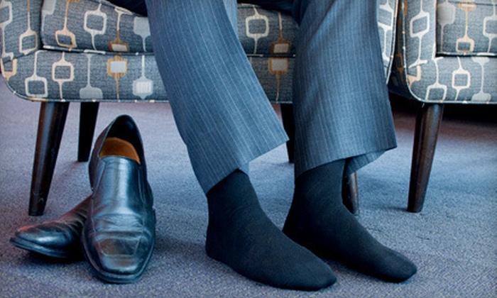 Men's Dress Socks: $16 for a 12-Pack of Knocker Men's Dress Socks ($36 Value)
