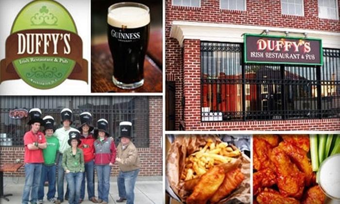 Duffy's Irish Pub - U Street - Cardozo: $15 for $30 of Bar Fare, Brews, and More at Duffy's Irish Pub