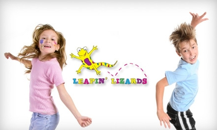 Leapin' Lizards - Southeastern Columbia: $30 for 10 Bounce-House Open-Play Admissions to Leapin' Lizards (Up to $60 Value)