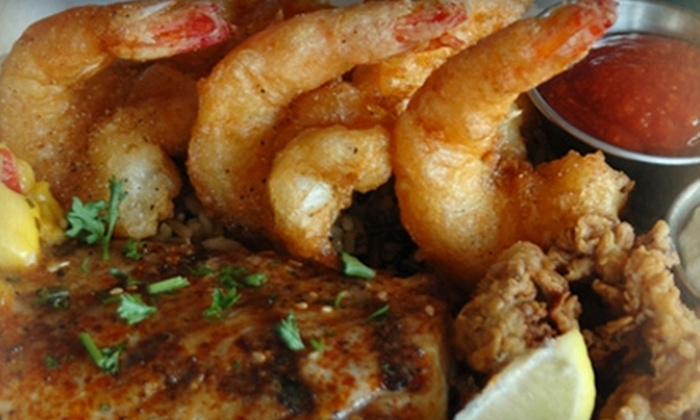 Pelican's Landing - Port Aransas: $15 for $30 Worth of Fresh Seafood and Aged Prime Steaks at Pelican's Landing