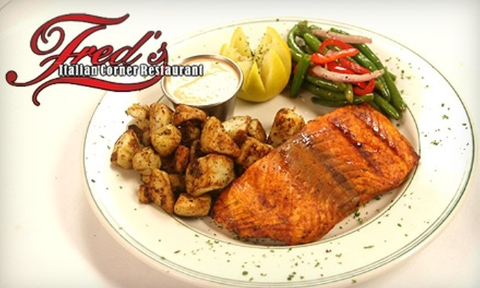 Fred's Italian Corner - University Place: $10 for $20 Worth of Traditional Southern Italian Cuisine at Fred's Italian Corner